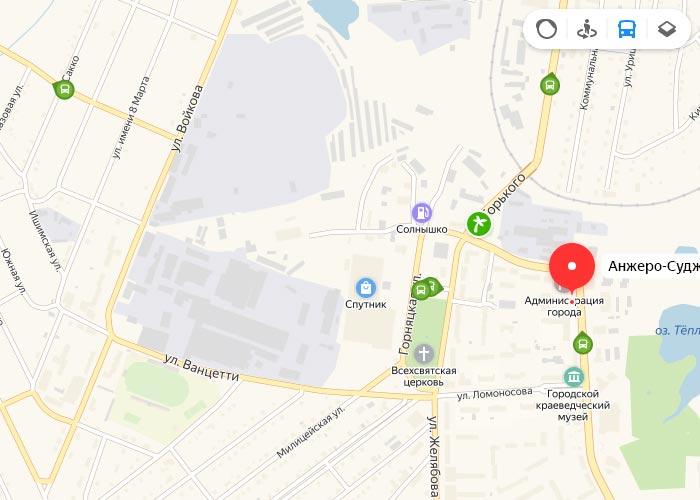 Яндекс транспорт Анжеро-Судженск онлайн отслеживание маршрутов