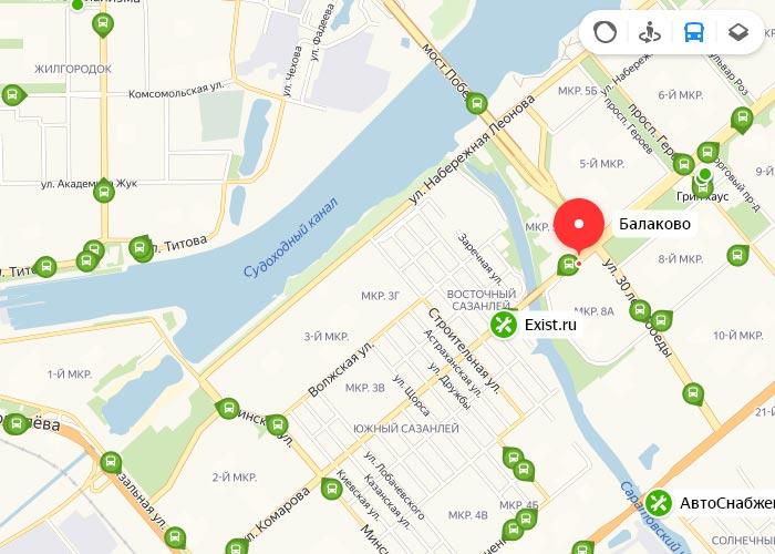 Яндекс транспорт Балаково онлайн отслеживание маршрутов