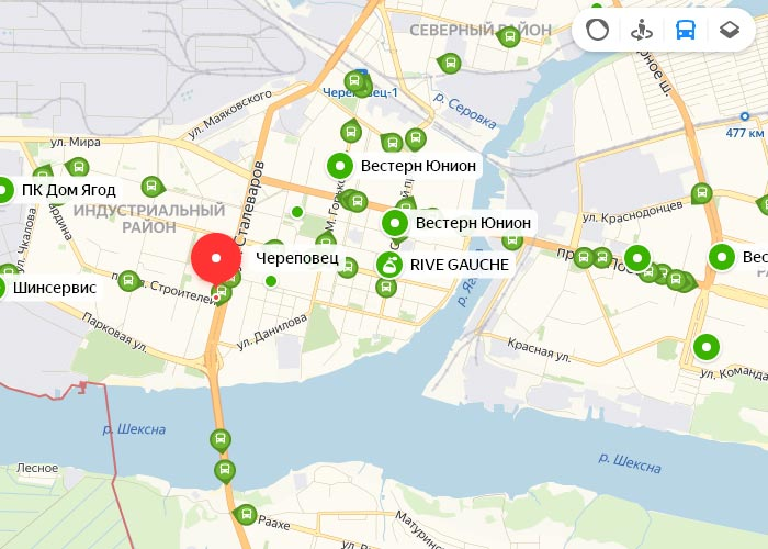 Яндекс транспорт Череповец онлайн отслеживание маршрутов