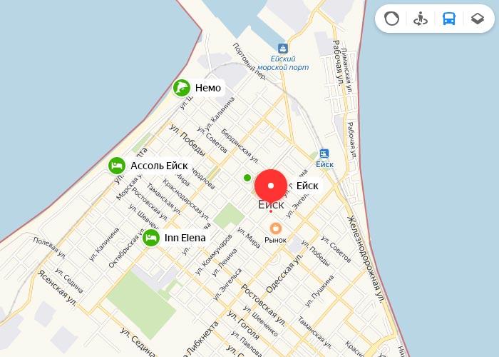 Яндекс транспорт Ейск онлайн отслеживание маршрутов