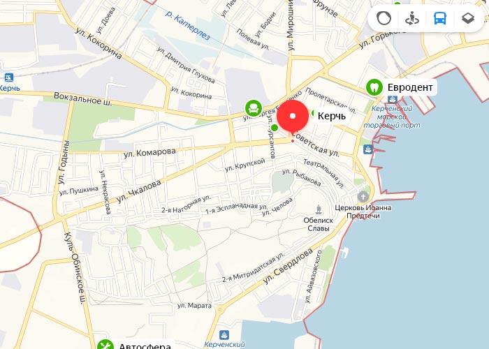 Яндекс транспорт Керчь онлайн отслеживание маршрутов