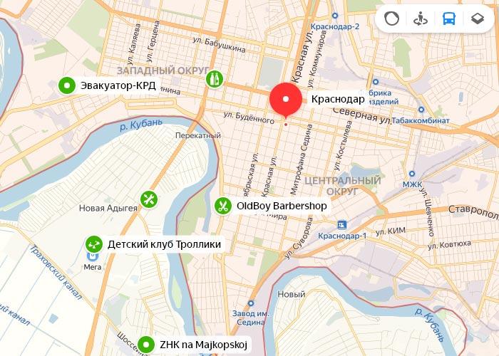 Яндекс транспорт Краснодар онлайн отслеживание маршрутов