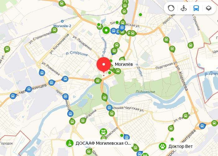Яндекс транспорт Могилев онлайн отслеживание маршрутов
