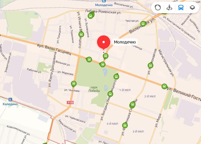 Яндекс транспорт Молодечно онлайн отслеживание маршрутов