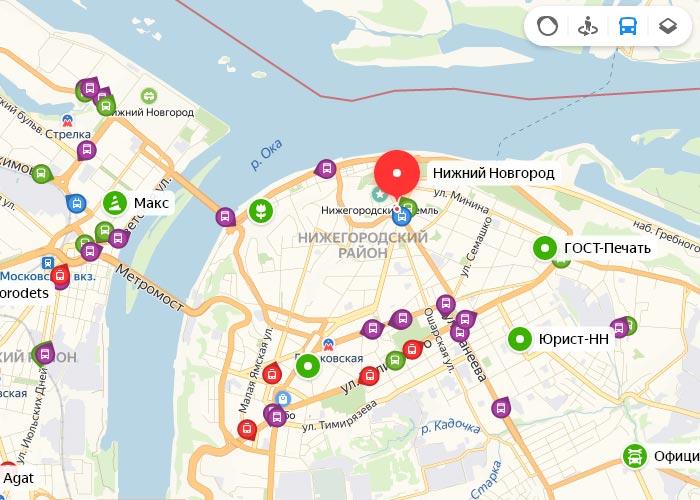 Яндекс транспорт Нижний Новгород онлайн отслеживание маршрутов
