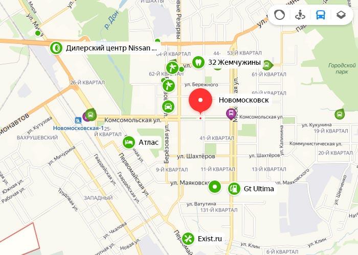 Яндекс транспорт Новомосковск онлайн отслеживание маршрутов