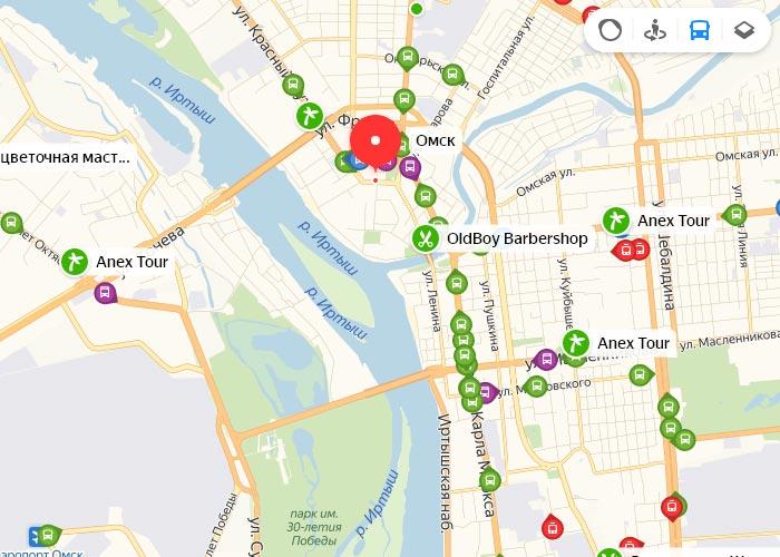 Яндекс транспорт Омск онлайн отслеживание маршрутов