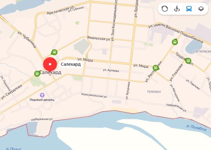 Яндекс транспорт Салехард онлайн отслеживание маршрутов
