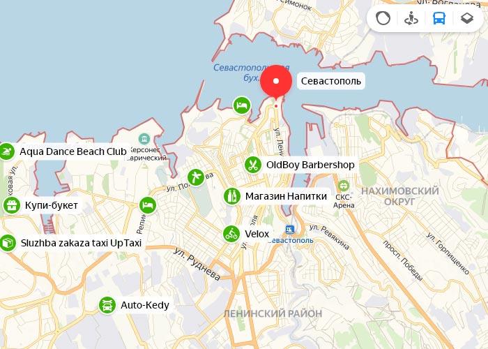 Яндекс транспорт Севастополь онлайн отслеживание маршрутов