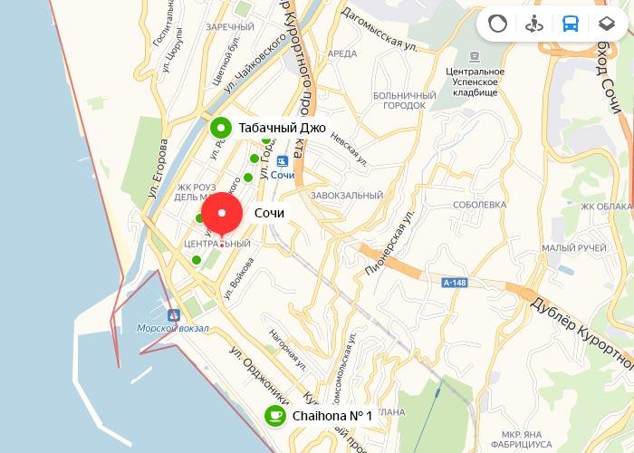 Яндекс транспорт Сочи онлайн отслеживание маршрутов