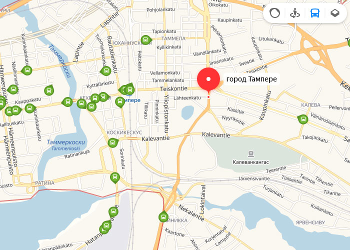 Яндекс транспорт Тампере онлайн отслеживание маршрутов