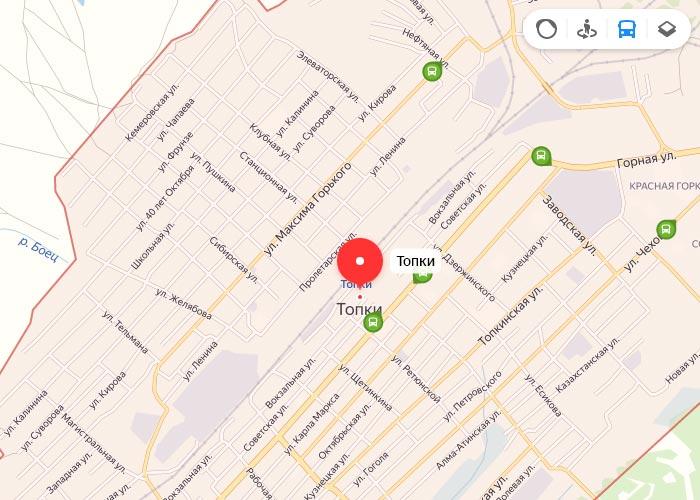 Яндекс транспорт Топки онлайн отслеживание маршрутов