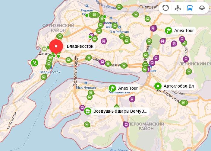 Яндекс транспорт Владивосток онлайн отслеживание маршрутов