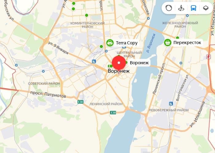 Яндекс транспорт Воронеж онлайн отслеживание маршрутов