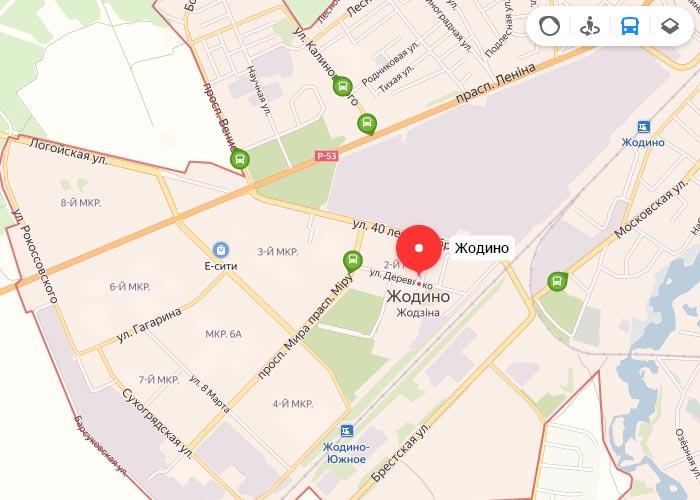 Яндекс транспорт Жодино онлайн отслеживание маршрутов