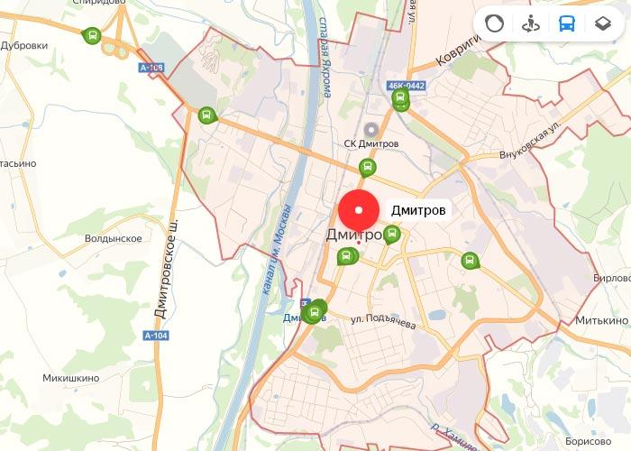 Яндекс транспорт Дмитров онлайн отслеживание маршрутов