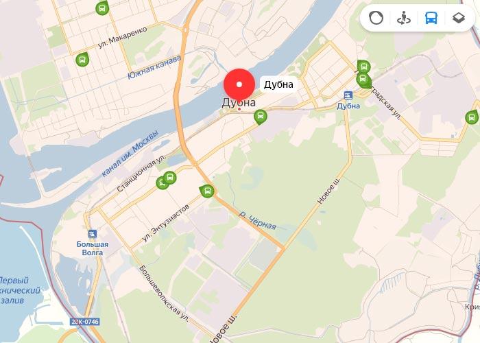 Яндекс транспорт Дубна онлайн отслеживание маршрутов