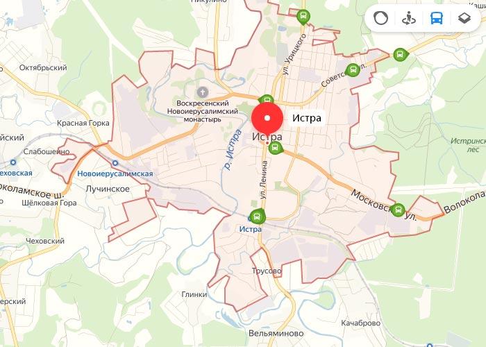 Яндекс транспорт Истра онлайн отслеживание маршрутов