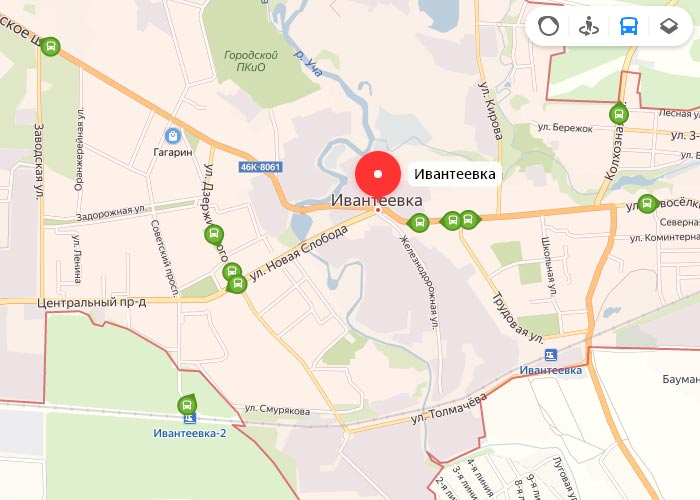 Яндекс транспорт Ивантеевка онлайн отслеживание маршрутов