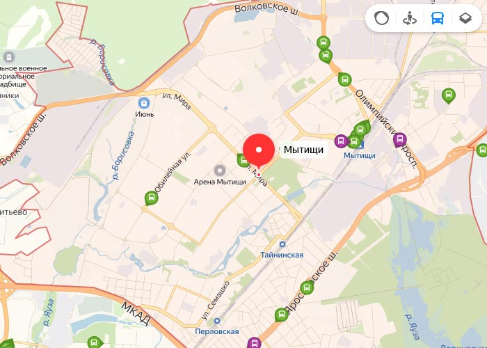Яндекс транспорт Мытищи онлайн отслеживание маршрутов