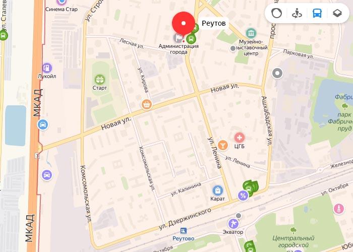 Яндекс транспорт Реутов онлайн отслеживание маршрутов