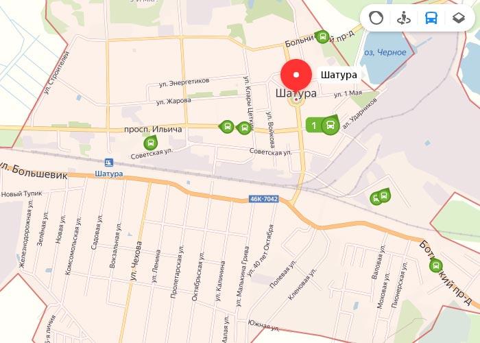Яндекс транспорт Шатура онлайн отслеживание маршрутов