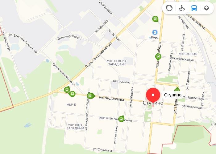 Яндекс транспорт Ступино онлайн отслеживание маршрутов